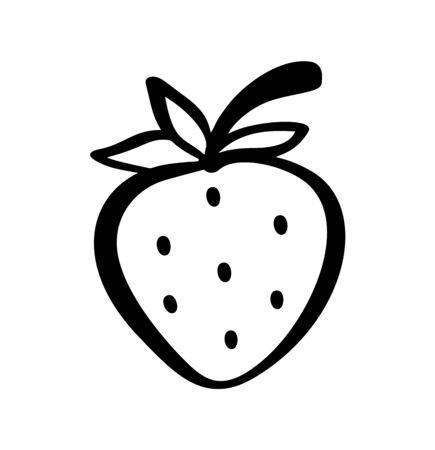 Strawberry hand drawn outline doodle icon.