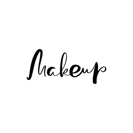 Calligraphy lettering text Make up. modern design for fashion school.