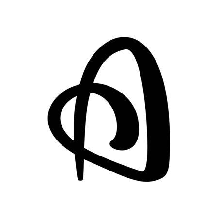 letter A, Abstract stylized alphabet business logo idea. Vector illustration abc