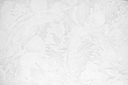 White mortar wall texture acrylic. Hand applied mortar wall Stock fotó - 131460019