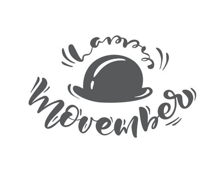Movember, raise awareness of mens health issues. Vector background with text. Prostate Cancer awareness