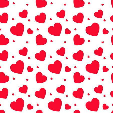girlie: Seamless vector pattern with hearts. Vector background. Greetings background. Illustration