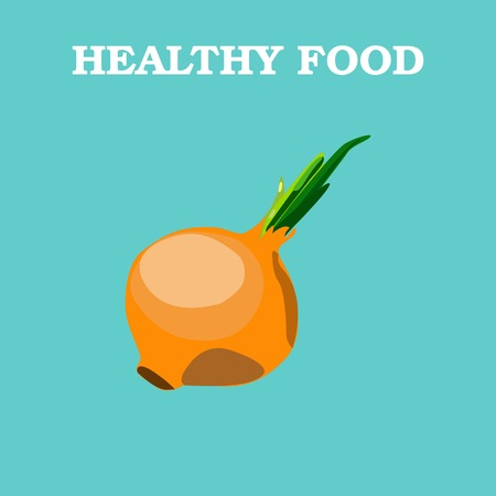 onions: Onions icon. Flat style vector illustration. Vegetarian food. Healthy lifestyle. Raw food diet