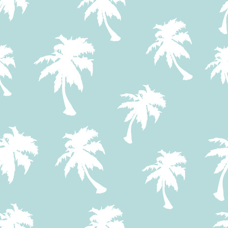 Palm tree vector seamless pattern. Wrapping paper. Exotic background. Vintage texture. Coconut palm tree. Island tree. Traveling wallpaper. Drawing texture.