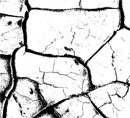 nakładki: Distressed Cracked Paint Overlay Texture. Grunge style Ilustracja