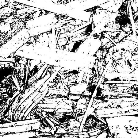 sawdust: Wooden Planks distress overlay texture for your design. Vector illustration. Grunge texture. Sawmill storage. Wooden cuts and sawdust. Wooden stump and stub. Cutting trees. Felled trees.