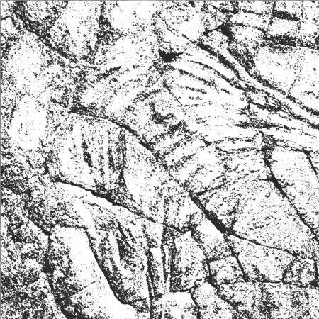 nakładki: Distressed Cracked Stone Overlay Texture. Grunge style Ilustracja