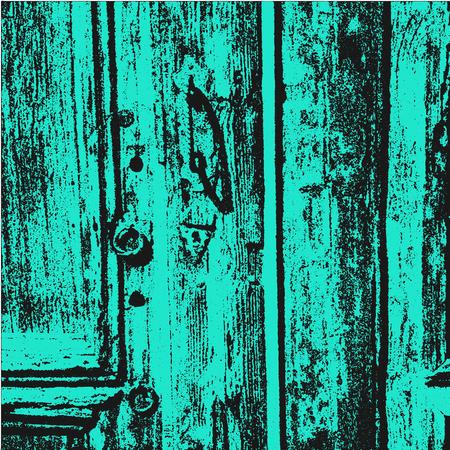 rinds: Distress grunge background with wooden old vintage door. Grunge texture, wooden texture, vintage texture. Vector illustration of wooden background. Halftone texture background