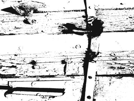 Distressed overlay wooden fence with nails texture, grunge background.