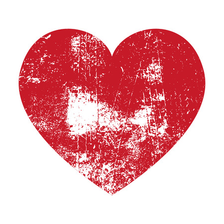 Grunge Heart. Red Heart. Heart Shape. Distressed Heart. Heart Texture. Valentine's Day Heart. Heart Background. Brush Stroke Heart. Vector Heart. Stock Illustratie