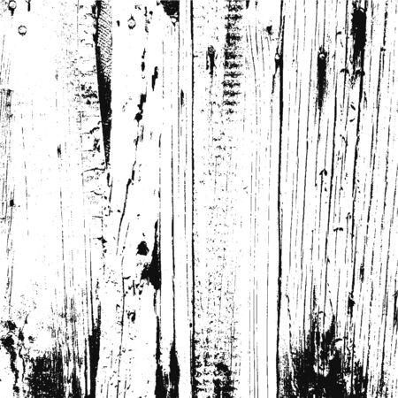 Distressed overlay damaged wooden fence grunge texture, grunge background. abstract halftone vector illustration. Illustration