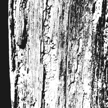 Distressed overlay damaged wooden bark grunge texture, grunge background. abstract halftone vector illustration. Illustration