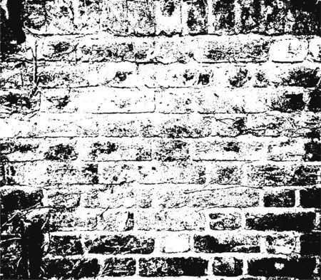brick texture: Distressed overlay damaged grunge texture of old brickwork, grunge background. abstract halftone vector illustration. Crack brick texture.
