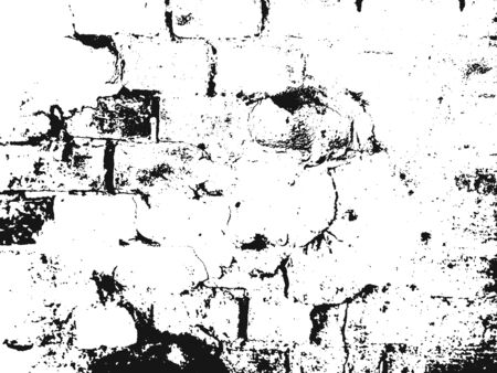 brickwork: Distressed overlay texture of old brickwork, grunge background. abstract halftone vector illustration.