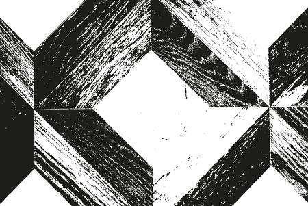 nakładki: Distressed nakładka parkiet tekstury Ilustracja