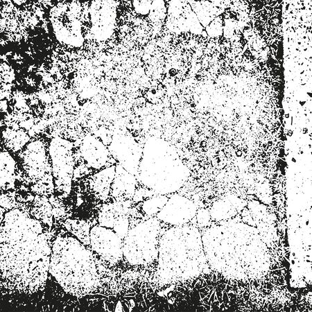 rusty metal texture: Distressed overlay texture of rusty peeled metal, cracked concrete, stone and asphalt. grunge background. abstract halftone vector illustration Illustration
