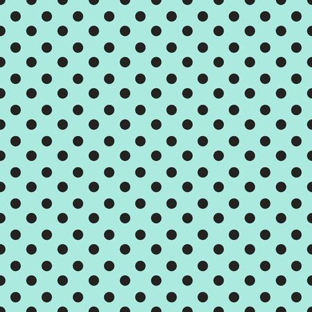 Abstract pattern senza soluzione di continuità geometrica con puntini neri su sfondo blu. Vintage carta di texture può essere utilizzato per il vostro disegno come carta da imballaggio. Seamless polka dot sfondo