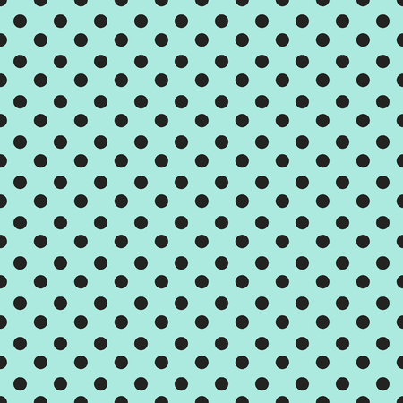 Abstrakte geometrische nahtlose Muster mit schwarzen Punkten auf blauem Hintergrund. Vintage-Papier Textur kann als Einwickelpapier für Ihr Design verwendet werden. Nahtlose Tupfenhintergrund