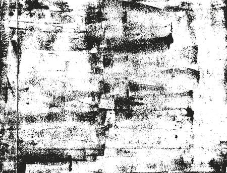 Distressed sovrapposizione trama di metallo arrugginito pelati. grunge. astratto mezzetinte illustrazione Vettoriali