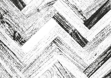 parquet texture: Distressed overlay wooden parquet texture, grunge vector background.