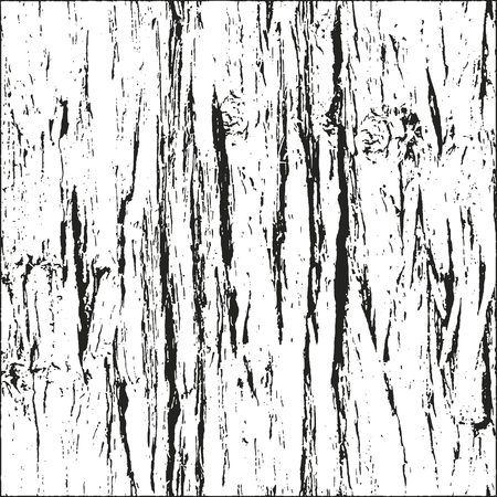 tree bark: Distressed overlay wooden bark texture, grunge vector background.