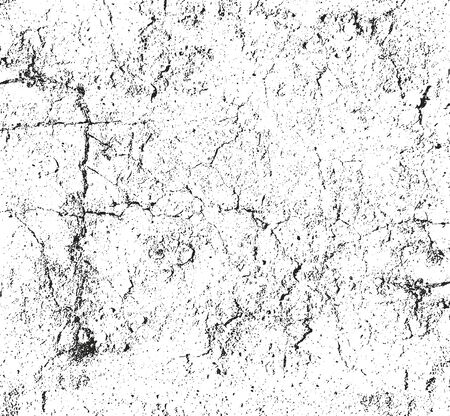 cracked concrete: Distressed overlay texture of cracked concrete. grunge background. abstract halftone vector illustration Illustration