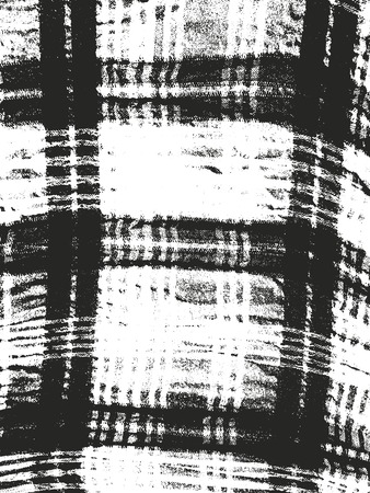 weaving: Distressed overlay texture of tartan weaving fabric. grunge background. abstract halftone vector illustration