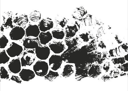 苦しめられたオーバーレイ テクスチャー。グランジ背景。抽象的なハーフトーン ベクトル図