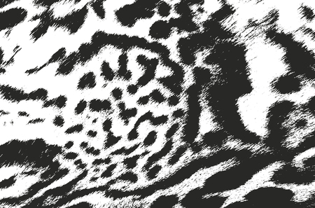 wickerwork: Distressed overlay texture of animals fur. grunge background. abstract halftone vector illustration