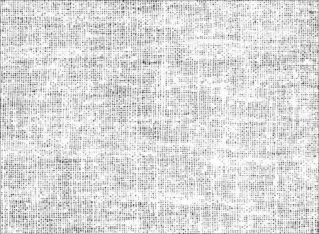 Distressed Overlay Textur des Webens Gewebe. Grunge Hintergrund. abstrakte Halbton-Vektor-Illustration Vektorgrafik