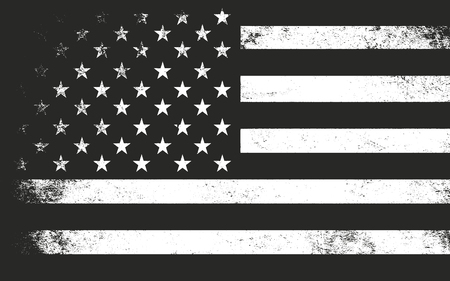 USA flag in grunge style. Vector illustration Vettoriali