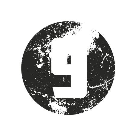Set of grunge numbers. Distressed vector illustration. Illustration