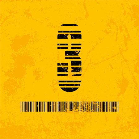 scanning: Stylish barcode typeface number three. Stripped letters of barcode scanning. Custom font. Vector illustration