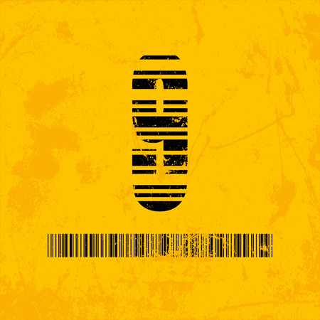 barcode scanning: Stylish barcode typeface number nine. Stripped letters of barcode scanning. Custom font. Vector illustration