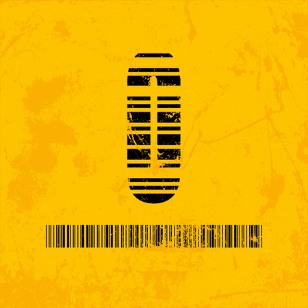 barcode scanning: Stylish barcode typeface number zero. Stripped letters of barcode scanning. Custom font. Vector illustration Illustration