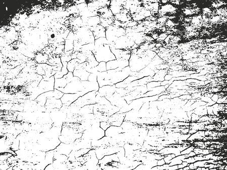 distressed background: Distressed overlay texture of cracked concrete. grunge background. abstract halftone vector illustration Illustration