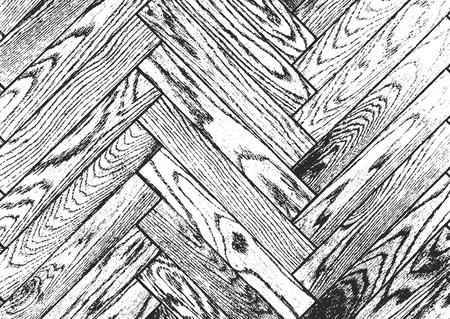 bark: Distressed overlay wooden bark texture, grunge vector background.