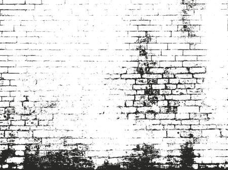 Verontruste overlay textuur van oude metselwerk, grunge achtergrond. abstract halftone vector illustratie.