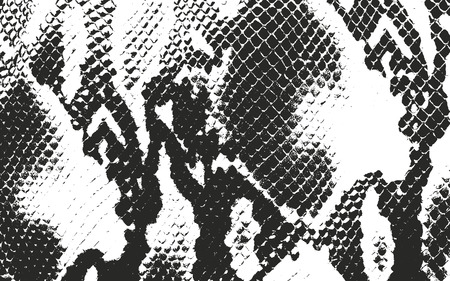 Verontruste bekledingstextuur van krokodil of slanghuidleer, grunge vectorachtergrond.