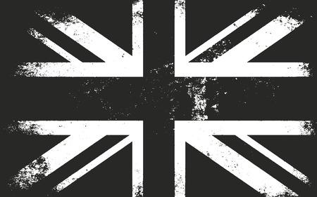 bandera de gran bretaña: Grunge bandera de Gran Bretaña. apenado superposición de texturas