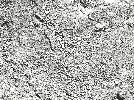 soil texture: Distressed overlay texture of cracked concrete. grunge background. abstract halftone vector illustration Illustration