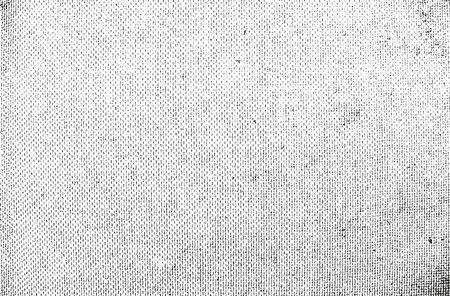 Distressed Overlay Textur des Webens Gewebe. Grunge Hintergrund. abstrakte Halbton-Vektor-Illustration