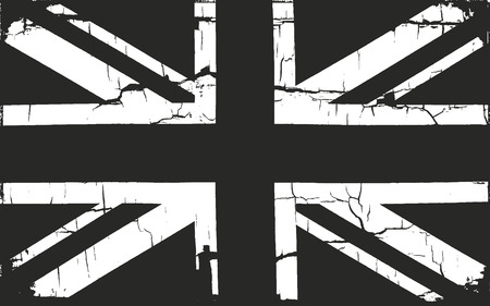great britain flag: Grunge Great Britain flag. distressed overlay texture