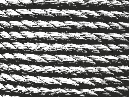 weaving: Distressed overlay rope texture of weaving fabric. grunge background. abstract halftone vector illustration
