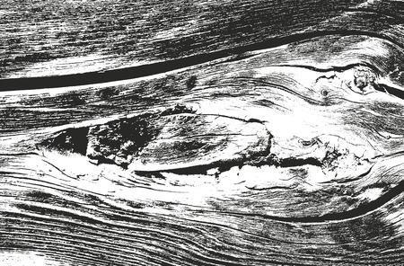 Distressed overlay wooden texture, grunge vector background. Ilustração Vetorial