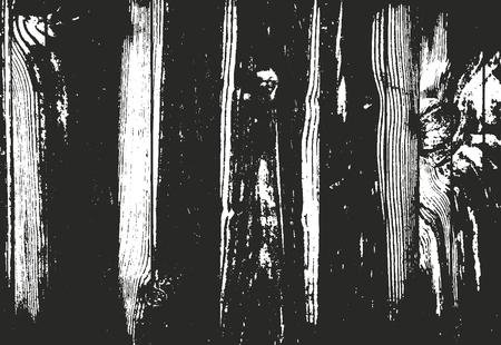 wood panel: Distressed overlay wooden texture, grunge vector background.
