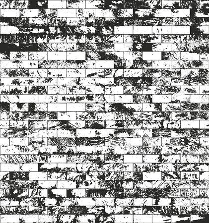 rectangle: Distressed overlay texture of old brickwork, grunge background. Illustration