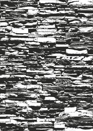 Verontruste bekledingstextuur van oud metselwerk, grunge achtergrond. abstracte halftoon vectorillustratie.