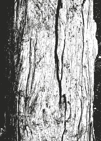 Distressed overlay wooden texture, grunge vector background.