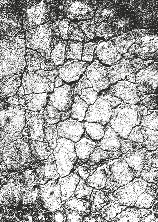 Distressed overlay texture of cracked concrete, stone or asphalt. grunge background. Abstract halftone, vector illustration.